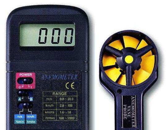 Anémomètre digital à turbine séparée