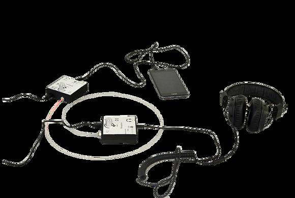 Ensemble transmission signal par fibre - Par émission LED