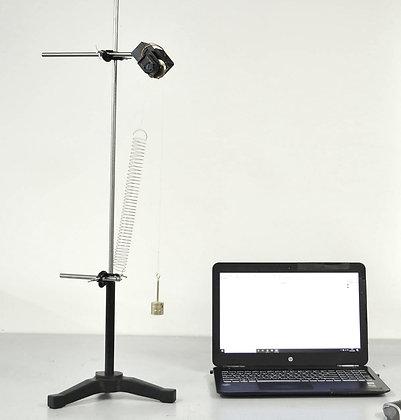 Pendule oscillant simple avec poulie électronique