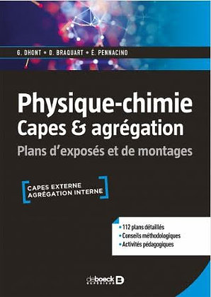 """Ouvrage """"Physique-Chimie - Capes & Agreg"""""""