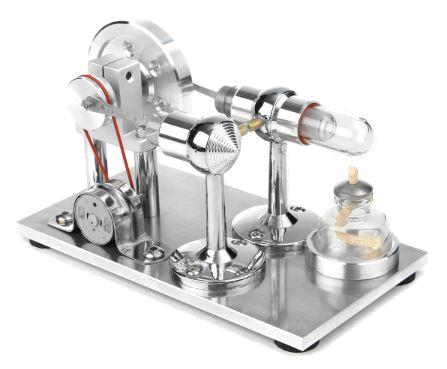 Moteur de Stirling à disposition parallèle, avec sorties électriques