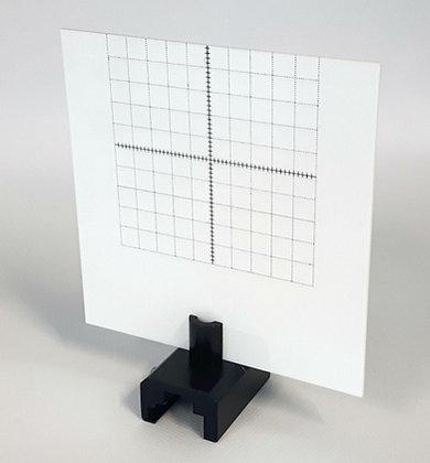 Ecran blanc quadrillé en plastique