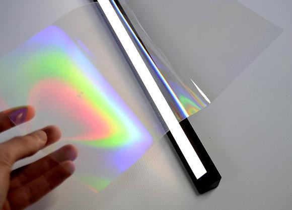 Réseau de diffraction grand format