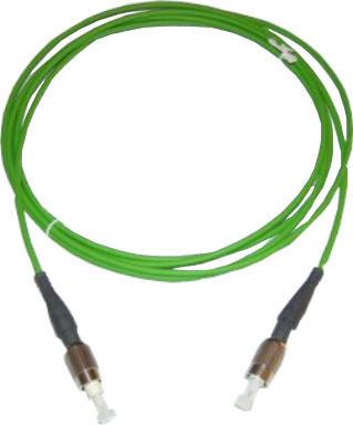 Fibre à gradient d'indice avec connecteurs et supports