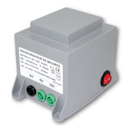 Transformateur 6/12V / 100W avec interrupteur