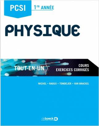 """Ouvrage """"PCSI 1ère année - Physique"""""""