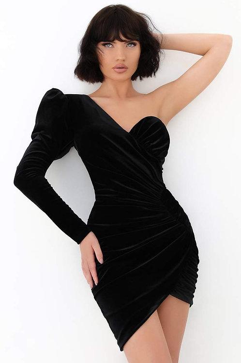 Terik Adiz Single Sleeve Cocktial Dress