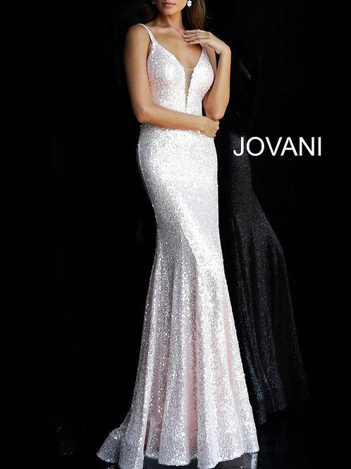 Jovani Open Back Beaded Gown
