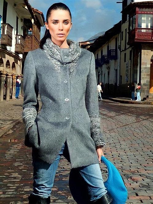 Liliana Castellanos Grey Alpaca Coat