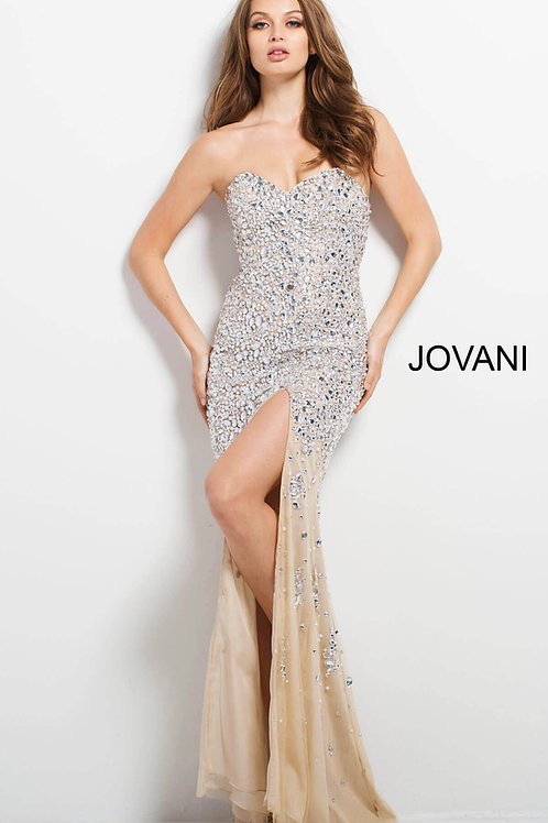 Jovani Strapless Beaded Gown