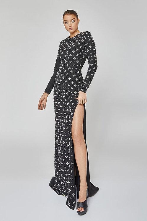 Terani Silver Stud Gown