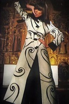 Liliana Castellanos White Alpaca Coat