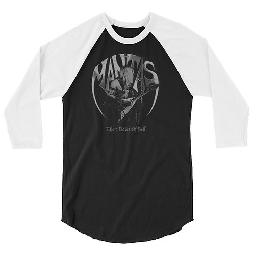 7 Dates Of Hell 3/4 sleeve raglan shirt