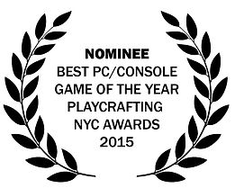 Playcrafting NYC Awards 2015, best PC/Console game of the year