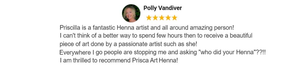 Merritt Island Florida Henna Artist Prisca Art Henna