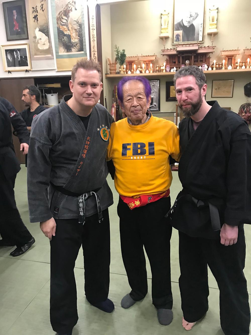 John Bibbee with Hatsumi Sensei and Matt Keiser