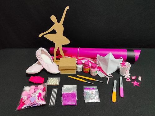 Kit Criativo Bailarina com máscara