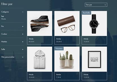 exemple de site ecommerce avec catalogue