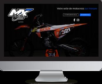 projection du site mxseat.fr sur un moniteur