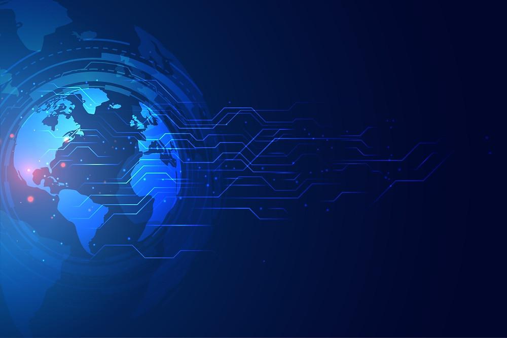 Globe terrestre symbolisant le réseau internet