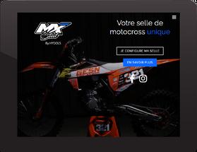 projection du site mxseat.fr sur une tablette