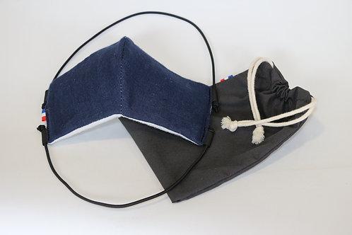 Masque bleu jeans