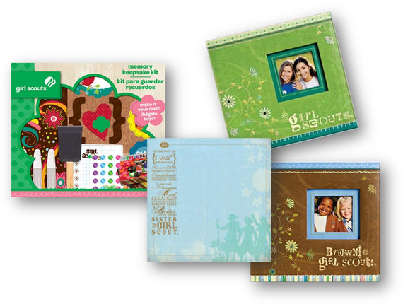 K & Company did a collection of Girl Scout related scrapbooking items