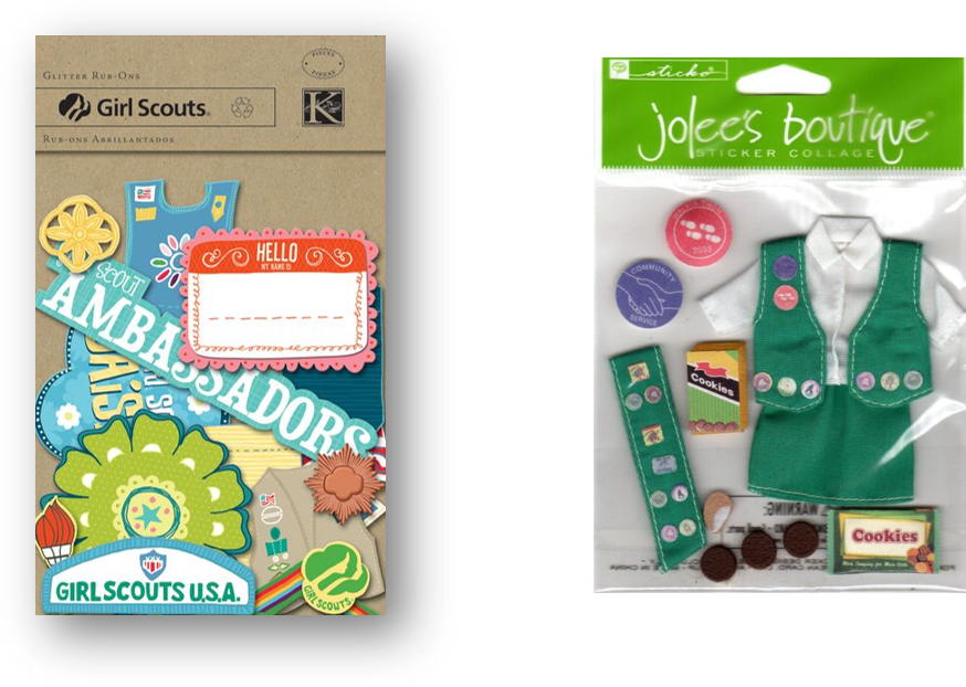 K&Co. and Jolee's Boutique items were found in craft stores.