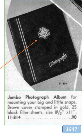 Note the style of the GS Trefoil in this 1947 photo album