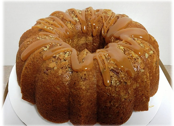 Sweet Potato Pound Cake with Caramel Glaze