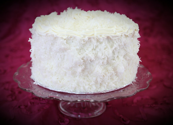 Coconut Cake with Buttercream Icing & Coconut Shreds