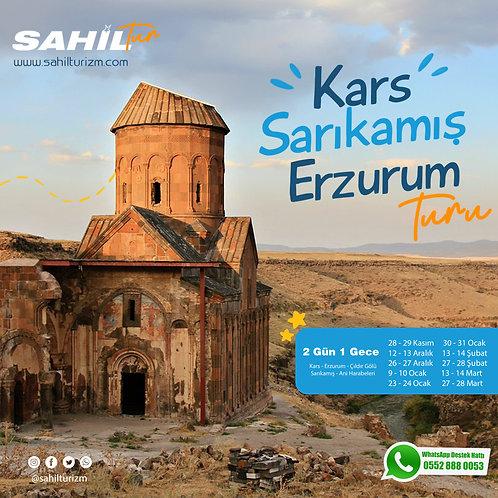 Kars – Sarıkamış – Erzurum Turu