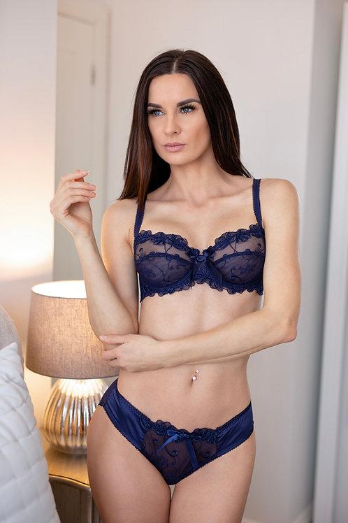 Ella - Blue Bow Bra