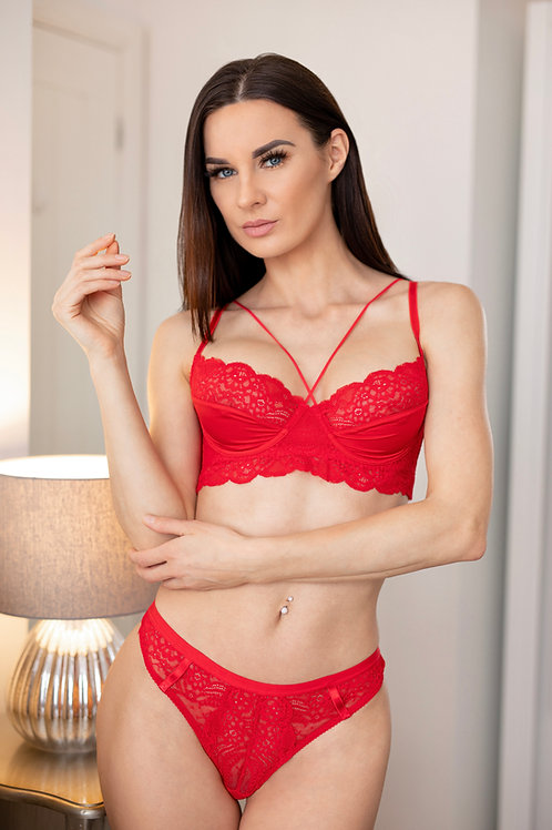 Oliva - Red Lace Bra