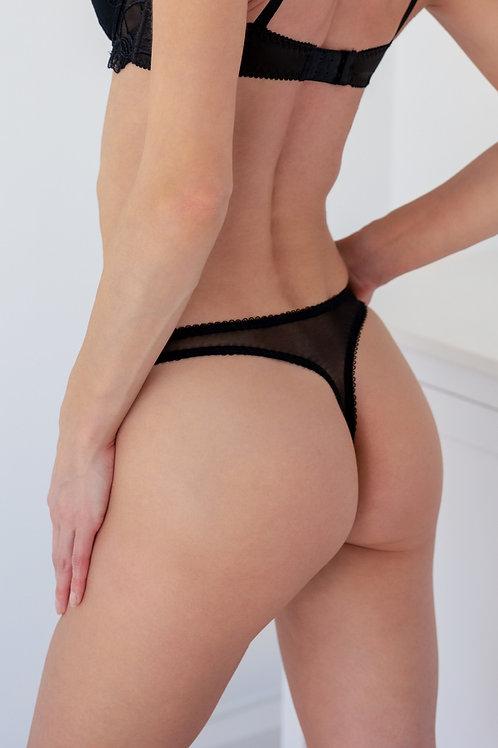 Tia - Black Thong