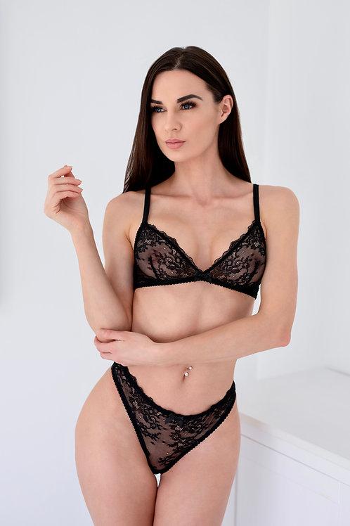 Victoria - Black Lace Bralette