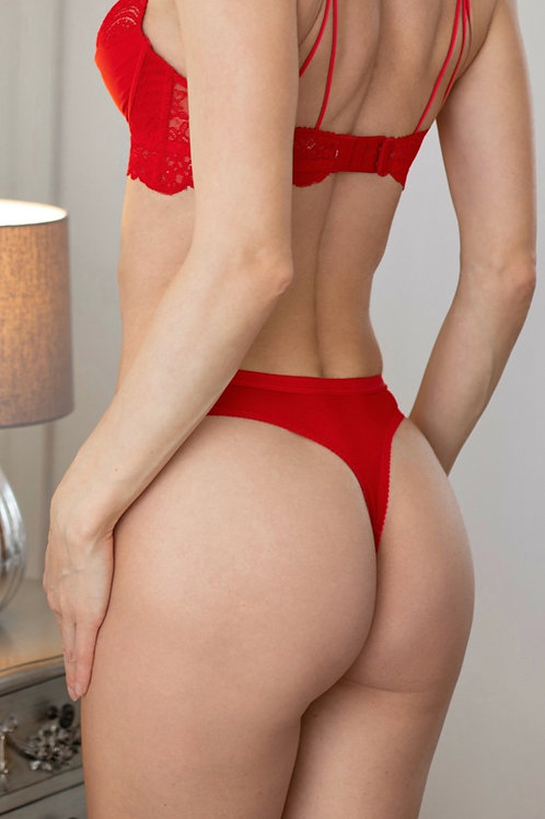 Oliva - Red Lace Thong