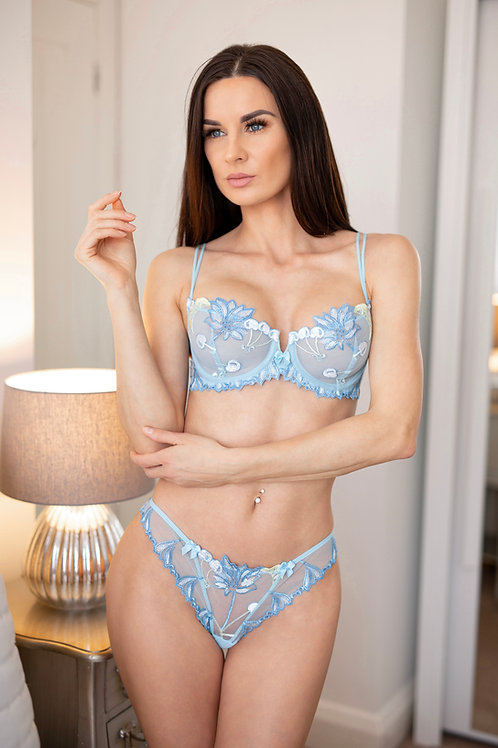 Iris - Blue Lace Bra