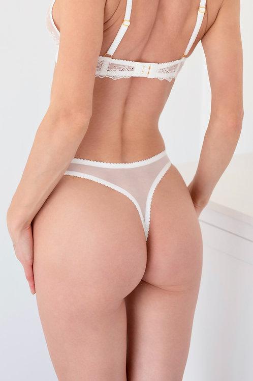 Mia - White Thong