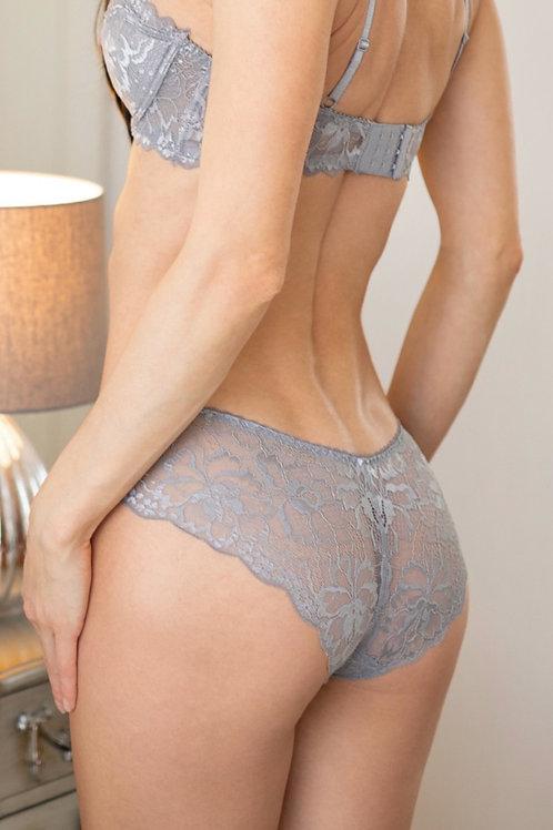 Freya - Grey Lace Knickers