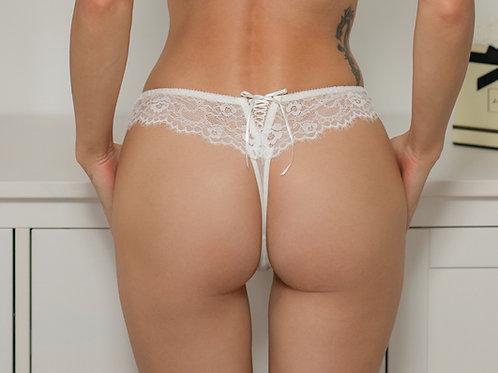 Ava - White Thong