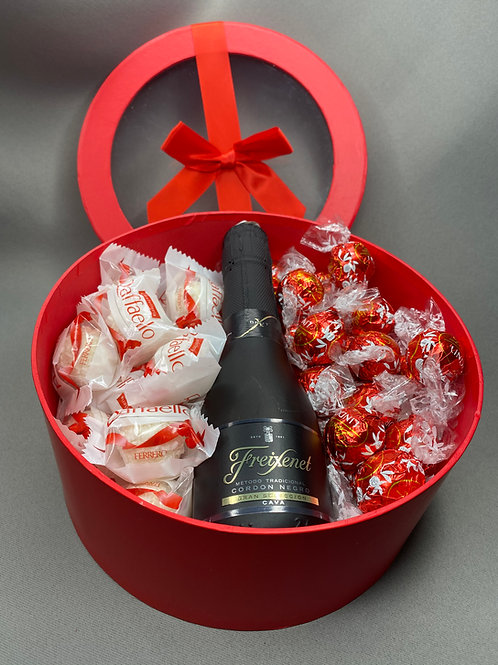 Large Luxury Chocolate and Cava Gift Box