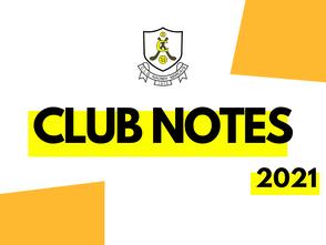 Club Notes - May 20, 2021