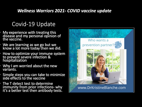 COVID 19 Vaccine Update:  Things Dr. Blanche Feels You Should Know Before Getting Vaccinated