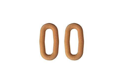 Brinco Oval Madeira