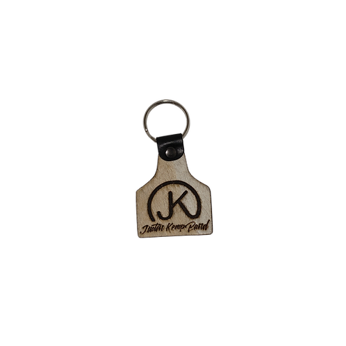 Cowhide Logo Keychain