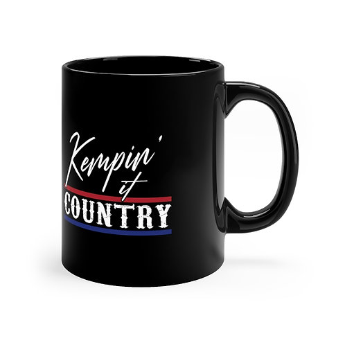 Kempin' It Country Black Mug (Red/White/Blue)