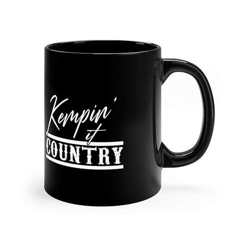 Kempin' It Country Black Mug