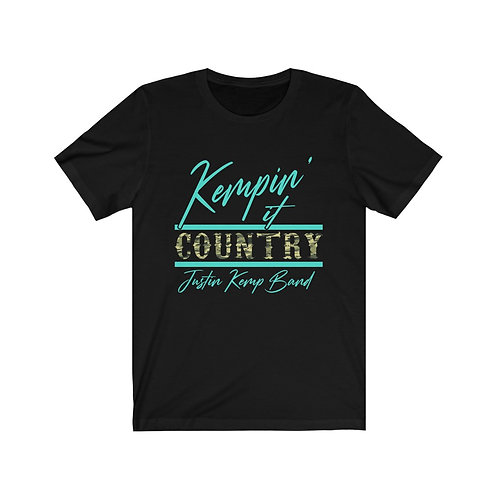 Kempin' It Country Tee (Turquoise / Camo)