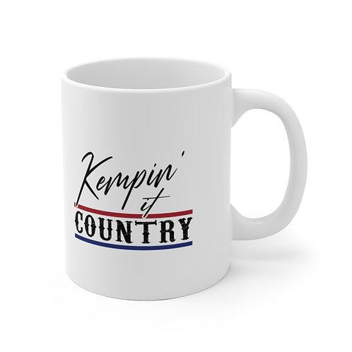 Kempin' It Country White Mug (Red/White/Blue)